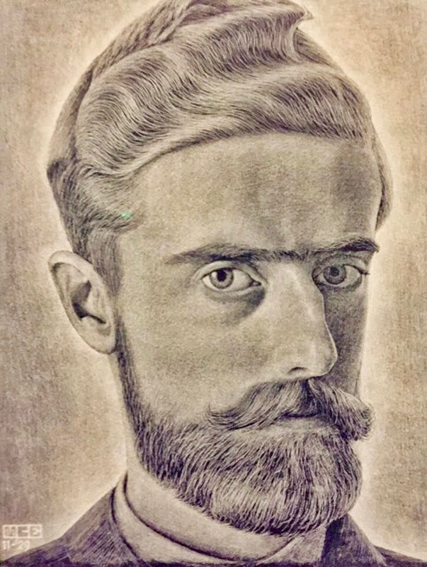 M.C. Escher, Self-Portrait